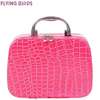 FLYING BIRDS Cosmetic Bags Box Makeup Bag Women Cosmetic Cases Beauty Case Travel Purse Jewelry Display