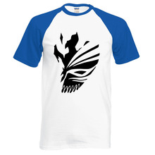 Anime BLEACH Kurosaki Ichigo men t shirt summer 100% cotton high quality raglan men t shirts for fans casual clothing