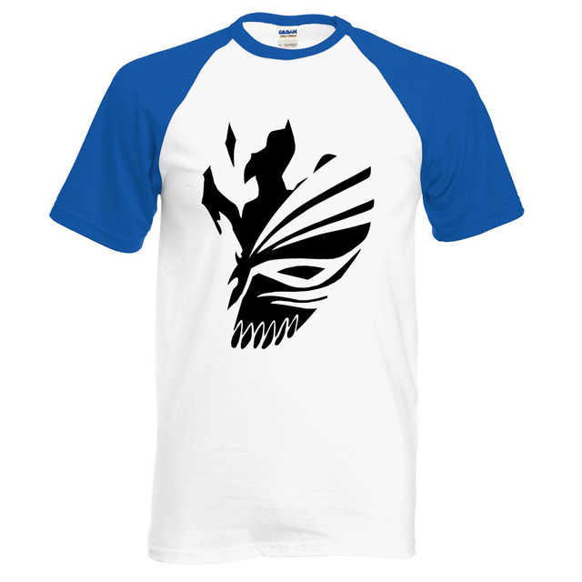 Anime BLEACH Kurosaki Ichigo men t shirt summer 100% cotton high quality raglan men t shirts for fans casual clothing