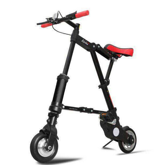 e0d33866c1f Luxury portable electric bike Lithium Battery foldable small electric  bicycle the range of his electric bike is 10 30KM-in Electric Bicycle from  Sports ...