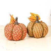 5.5 2pcs/lot Thanksgiving Day Autumn Season Decorations Pumpkin Foam Line Knitting Fabric Ornaments Party Festival Supplies