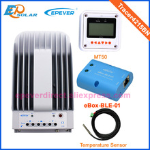 40A mppt charge controller with white MT50 solar portable panel 12v 24v  auto work bluetooth function temperature sensor