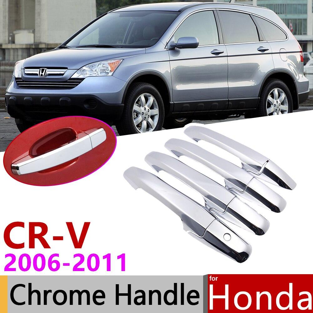 For Honda Cr V Crv 2007 2011 Luxurious Chrome Exterior Door Handle Cover Car Accessories Stickers Trim Set 2006 2008 2009 2010 Car Stickers Aliexpress