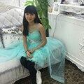 Fábrica frete grátis 2016 nova menina vestido de festa com long Train vestido para crianças de 6 a 12 anos crianças vestidos de noite Formal GH-01