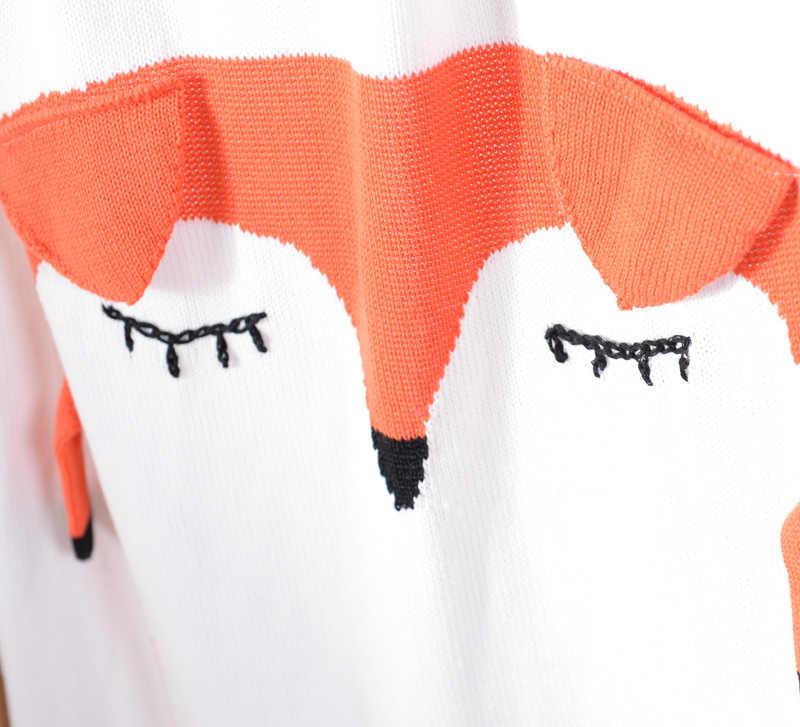 Dễ thương 3D Trẻ Em Bọc Trẻ Con Bằng Tả Trắng thỏ Màu Cam fox tai Phim Hoạt Hình trẻ em cotton dệt kim chăn ném bộ đồ giường sofa không khí mantas chăn
