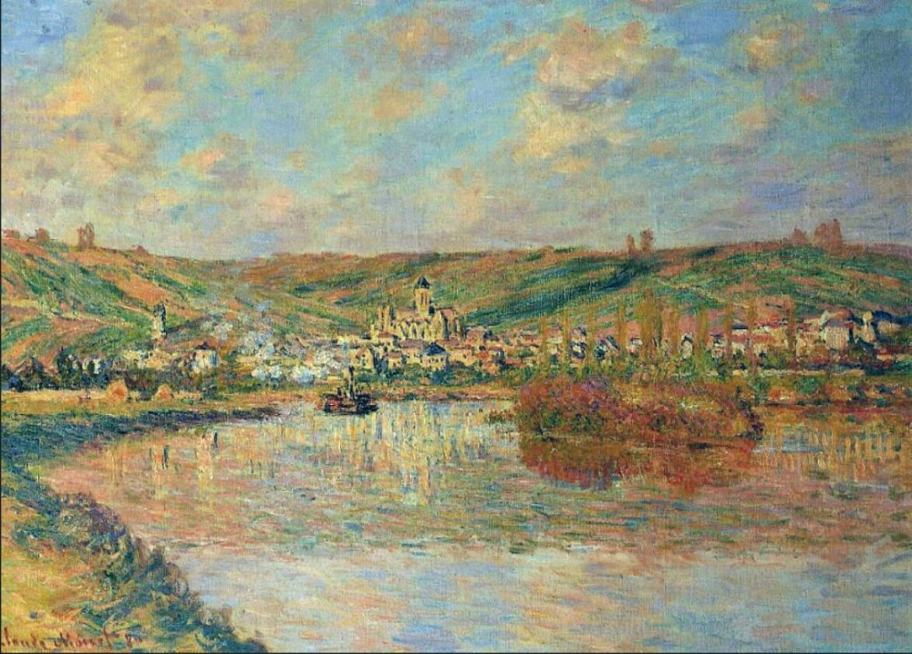 High quality Oil painting Canvas Reproductions Late Afternoon in Vetheuil (1880) By Claude Monet hand paintedHigh quality Oil painting Canvas Reproductions Late Afternoon in Vetheuil (1880) By Claude Monet hand painted