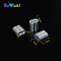 1000pcs/pack 2mm Aluminum Cable Crimps Sleeves Rope Clip Fittings Loop Sleeve