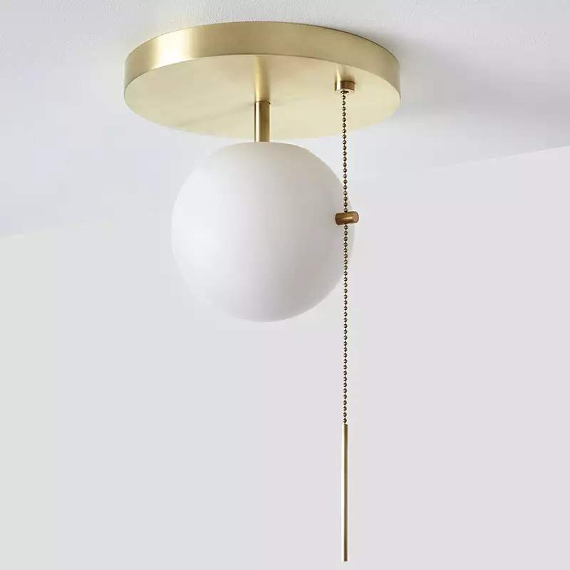 Nordic Copper Gold Lustre Led Ceiling Light Metal Rope Control Luminaire Ceiling Lamp for Study Room Indoor Lighting Fixtures nordic lustre luminaire hand knited metal net led pendant light gu10 and led chip lighting fixtures cloud led suspension lamp