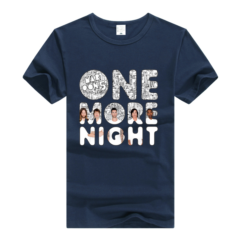 Maroon 5 T Shirt Rock Band Tee Men Women Cotton T-Shirt Summer Clothing Tshirt Maroon5 One More Night