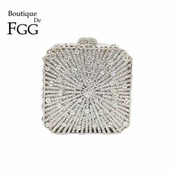 Изысканная женская вечерняя сумочка-клатч с ослепительным кристаллом, свадебные сумочки и сумочки, женские вечерние клатчи