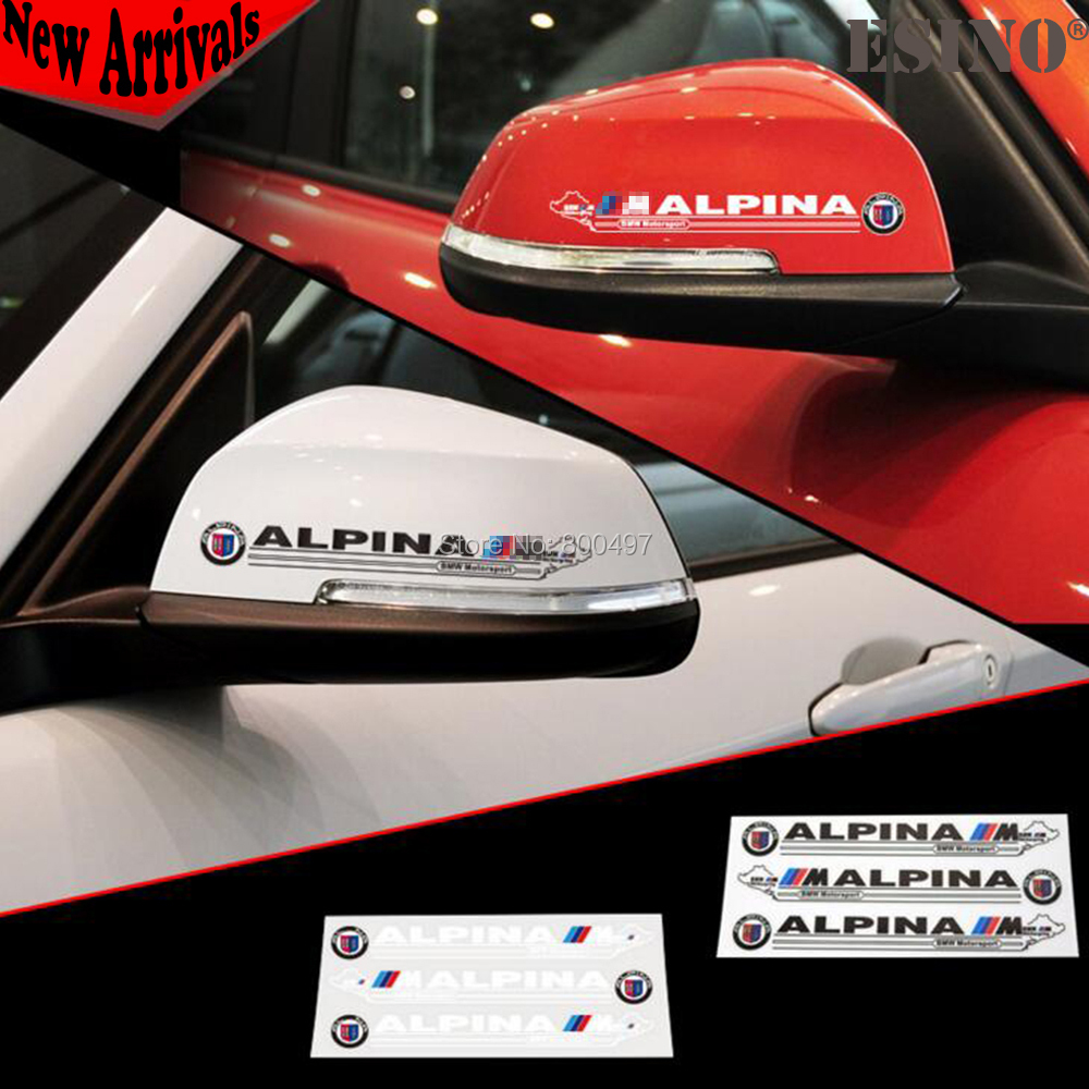 BMW Motorsport Emblems Decals Car Rearview Mirror Personalized Stickers for BMW