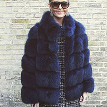 Thick Warm Winter Fur Coat Women Faux Fox Fur Jacket Autumn Fashion Casual Outerwear Girls Plus Size Fur Coat  women clothing