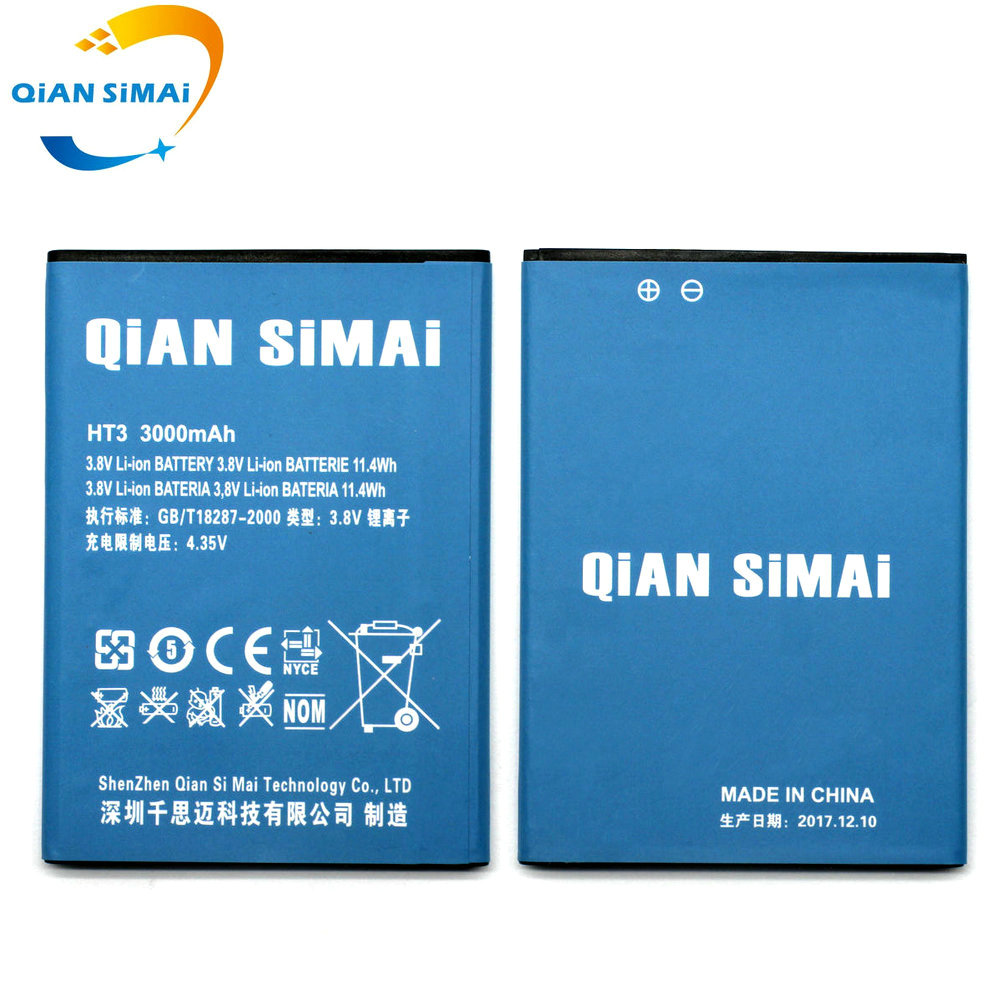 QiAN SiMAi 3000mAh New High quality HT3 Battery for Homtom HT3 HT3 PRO mobile phone in stock+ free shipping + Track Code