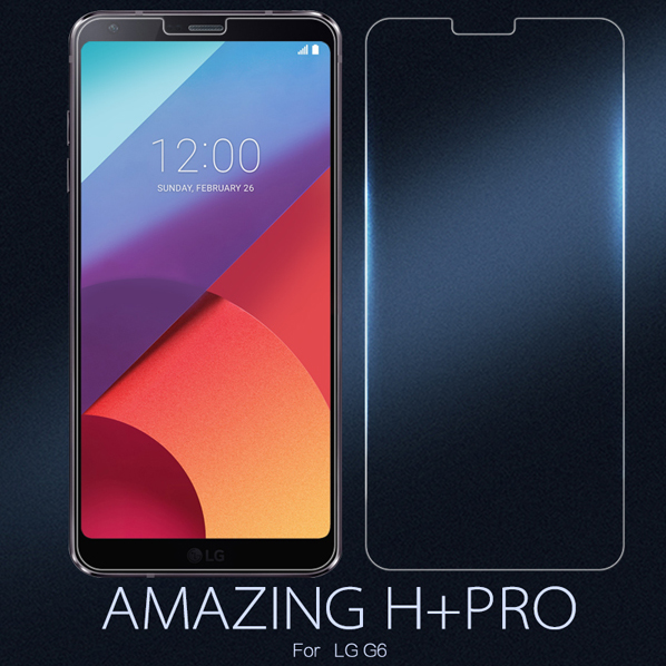 Original For LG G6 Tempered Glass Nillkin Amazing H&H+PRO Anti-Explosion Screen Protector For LG G6 With Original Packaging
