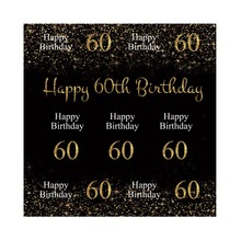 Laeacco Happy 60th Birthday Chalkboard Starry Celebration Portrait Scene Photo Background Photographic Backdrop For Studio