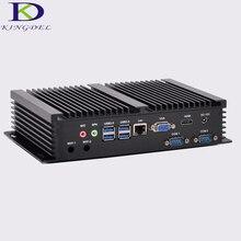 Мини-компьютер безвентиляторный мини-ПК Windows 10 Core i3 4010U 5005U i5 4200U двойной LAN 2 * RS232 Промышленные ПК Прочный ПК мини Computador