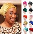NEW Fashion women Luxury pleated velvet Turban hijab Head Wrap Extra Long tube indian Headwrap Scarf Tie cc-1
