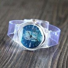 XG516 Transparente das Mulheres de Quartzo Relógios De Plástico Para As Meninas das Mulheres Pulseira de Relógio de Pulso Relogio feminino Reloj Presente