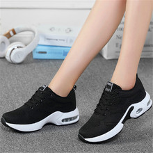 2019 summer new air cushion breathable flying woven casual running men and women couple shoes