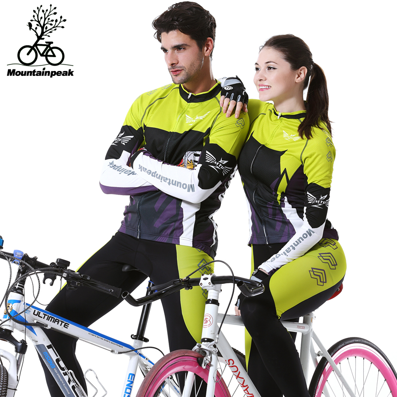 Mountainpeak cycling suit men and women long sleeve spring/summer bike riding trousers mountain equipment women s cycling shorts cycling mountain bike cycling equipment female spring autumn breathable wicking silicone skirt