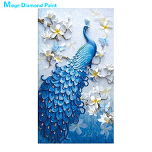 blue peacock Diamond Painting animal floral Round Full Drill 5D Nouveaute DIY Mosaic Embroidery Cross Stitch home decor gifts цена 2017