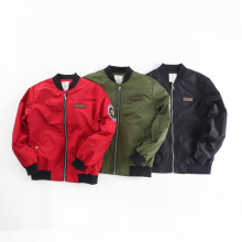 Spring Autumn Jackets for Boy Coat Bomber Jacket Army Green Boy's Windbreaker jacket Multicolor Kids Baseball Long-sleeveJacket