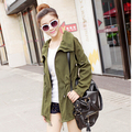 2017 Pure Color 2017 Korean Fashion Women 's Casual Coats Female Long Sleeve Windbreaker Slim Women Trench Outwear Free Shipping