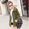 2017 Pure Color 2017 Korean Fashion Women 's Casual Coats Female Long Sleeve Windbreaker Slim Women Trench Outwear Free Shipping