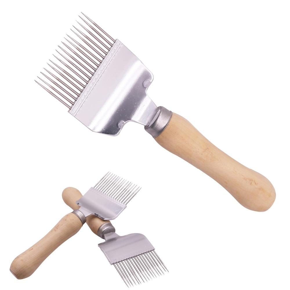 10 pcs Durable Wooden Handle Comb Honey Pin Needle Honey Knife Cut Honey Knife Beekeeper Uncapping
