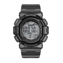 Fr715 рыбалка часы многофункциональный часы мужчины цифровые часы серый цвет новое поступление подсветка термометр спорт