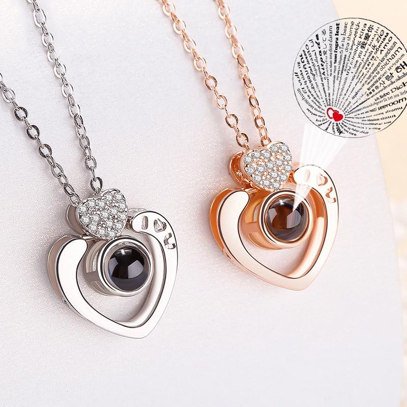 Double-Heart-Shape-Romantic-100-languages-I-love-you-Projection-Pendant-Necklace-Shiny-Zircon-Love-Memory