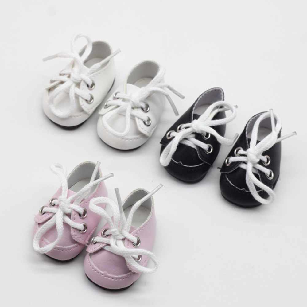 5cm 1/6 PU Leather Shoes for BJD SD Dolls Costome Dolls Accessories Creative Gifts Presents Summer Puppet Shoes