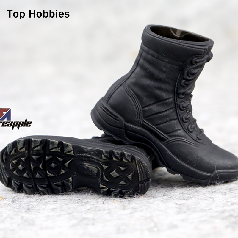 Black Military Soldier Combat Boots Shoes 1/6 Scale Fit 12 Phicen Action Figure Model 1:6 Size toys NANU multi 12 1 6 accessories uniform action figure model toy military army combat game toys soldier set with retail box child gift