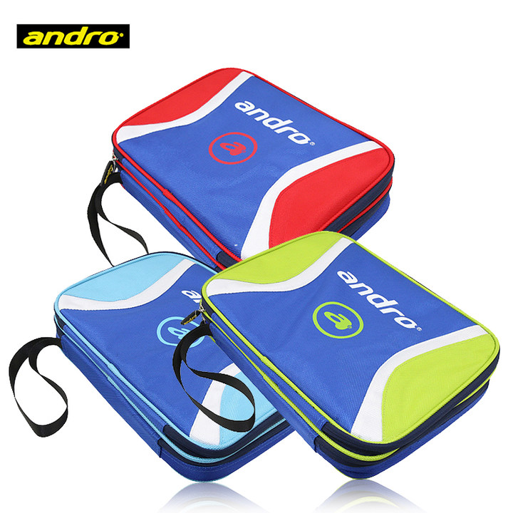 Andro Original Table Tennis Bag (Double Layer, With Support Inside) Ping Pong Case Tenis De Mesa