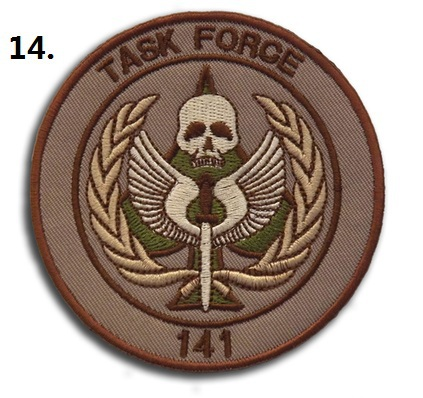 Outdoor TASK FORCE 141 Patch Tactical Embroidery Patch Cloth Epaulette Armband Badge Coyote Brown blue white Color