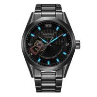 Роскошные брендовые высококачественные часы для дайверов Мужские механические часы со скелетом вакуумная Кофеварка светящиеся тритиевые