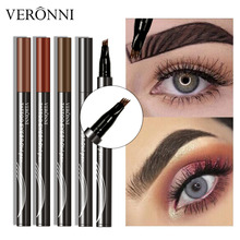 VERONNI 4 Colors Eyebrow Pencil Natural Maquillaje 3D Eyebrows Tint Eye Brow Microblading Tattoo Pen Extension Liquid