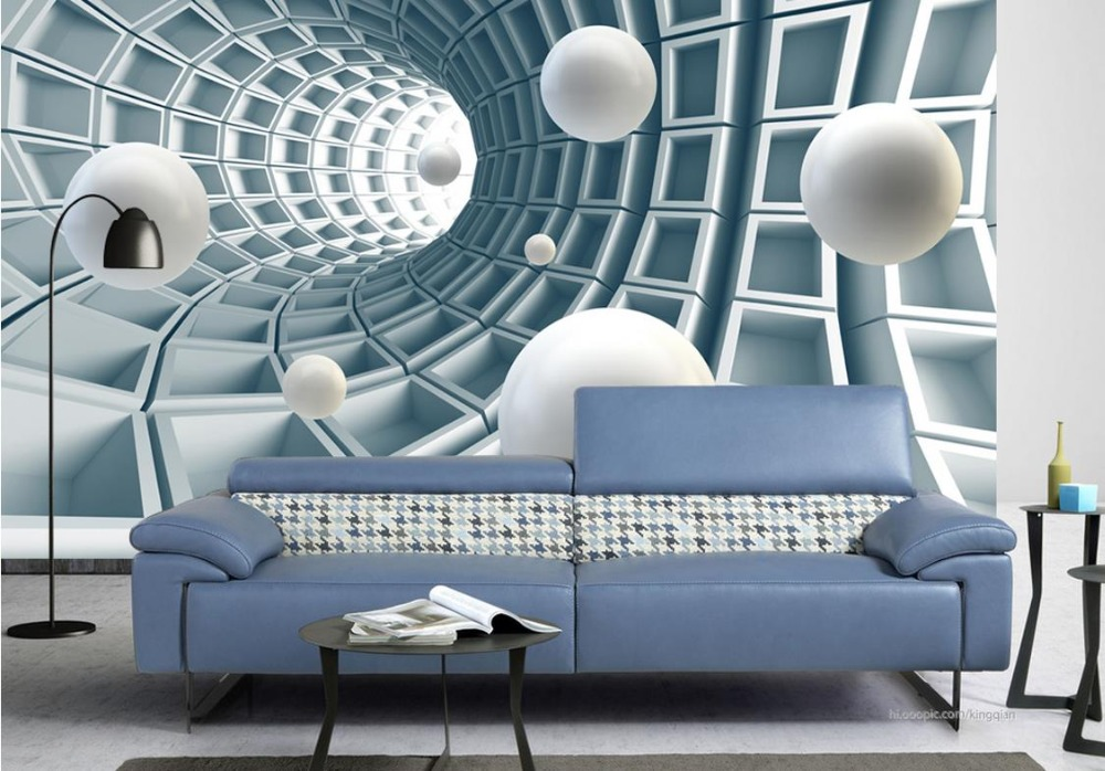 Custom 3d mural wallpaper background Abstract tunnel space wall papers home decor for living room bedroom background wallpaper custom baby wallpaper snow white and the seven dwarfs bedroom for the children s room mural backdrop stereoscopic 3d