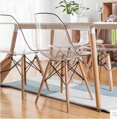 Eames Chair Light Transparent Chair Chair Wood Chair Scandinavian Modern  European Furniture Designer Chairs On Aliexpress.com | Alibaba Group