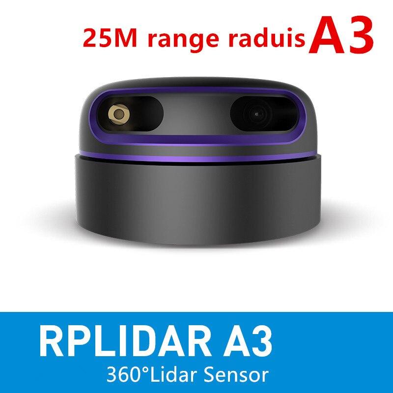 Clatec RPLIDAR A3 2D 360 degrés 25 mètres capteur lidar de rayon de balayage pour l'évitement des obstacles et la navigation des aéronef sans pilote (UAV) AGV