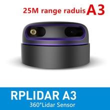 Slamtec RPLIDAR A3 2D 360 градусов 25 метров сканирующий радиус lidar датчик для предотвращения препятствий и навигации AGV UAV