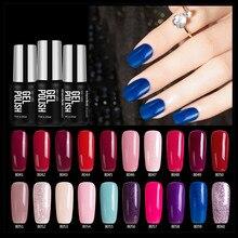 Modelones 7 мл Блестящий Голубой Цвет Гель-лак uv/LED замочить от УФ-длительный Гели для ногтей Польский телесного цвета Цвет серии лак для ногтей