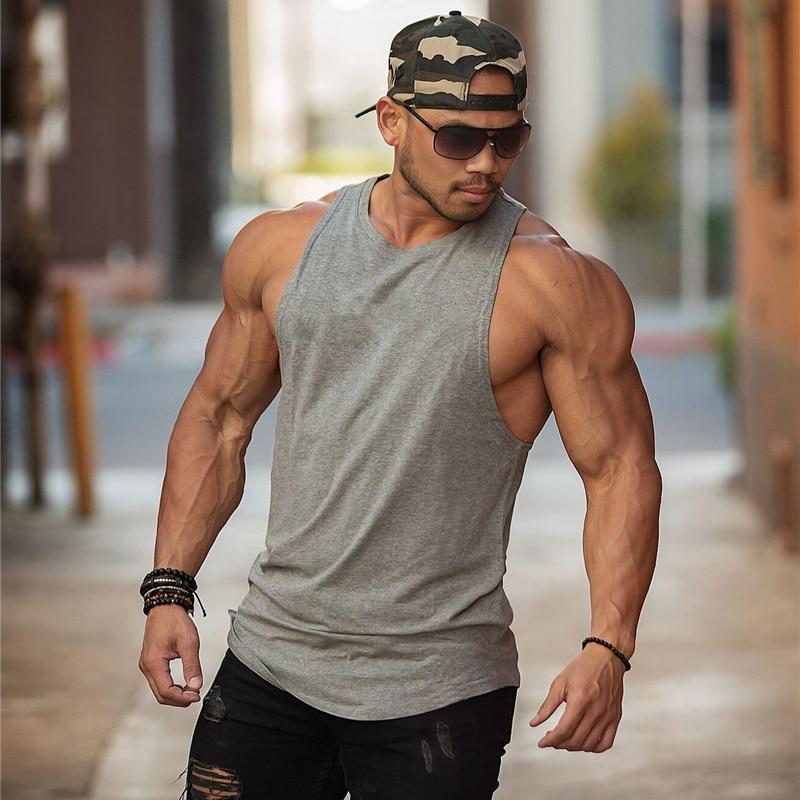 Gym Warriors Brand Clothing Bodybuilding Sleeveless Undershirt Fitness Mens Muscle Vest Summer Solid Cotton Tank Top Men Tanktop