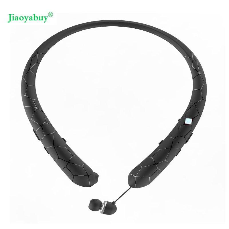 Bluetooth Casque Rétractable Écouteurs Tour de Cou Sport Casque Sans Fil Stéréo Bluetooth Écouteurs avec Micro Pour iphone xiaomi
