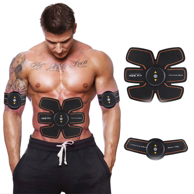 Wireless Smart EMS Abdominal Muscle Trainer Device Electric Body Massager Exerciser Stimulator Slimming Fitness Beauty Machine electric beauty body slimming and lipoid fat massaging massager is powerful vibratory body and slimming machine