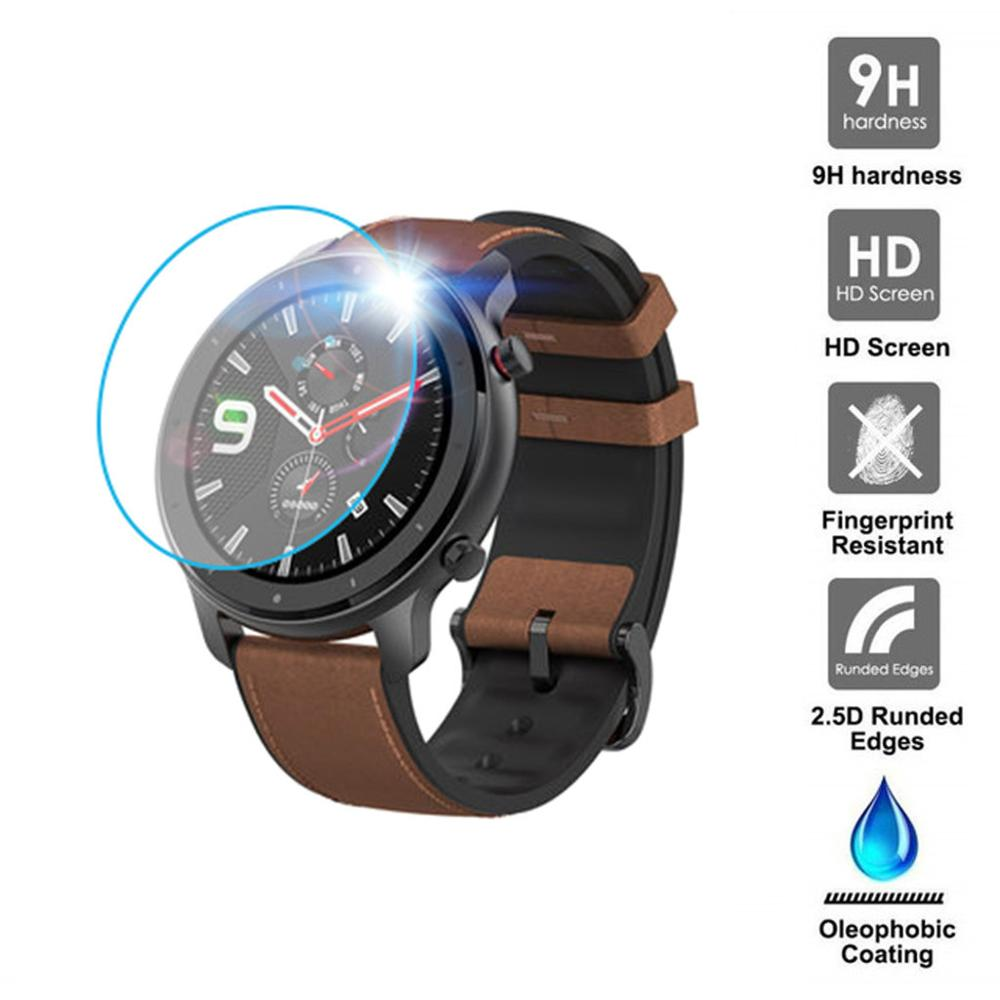 1/3PC Clear Film Tempered Glass Screen Protector For AMAZFIT GTR Smart Watch 42/47mm Smart Watch Protective Accessories #722