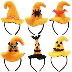 Новый 5 шт. Хэллоуин смешно оголовье Мини Hat Хэллоуин лентой вечерние U683
