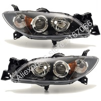 Headlights PAIR for MAZDA 3 Sedan 2003 2004 20005 2006 2007 2008 Right + Left AXELA 4D Electric Leveling Sedan