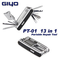 Multifunction Mountain Bike Bicycle Cycling Portable Repair Tool Set Cut Chain Tire Kit 13 In 1