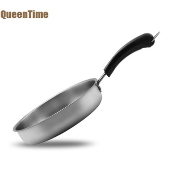 QueenTime Stainless Steel Grill Pans Non-Stick Frying Pan For Pancake Fried Egg Steak Cooking Tools Gas & Induction Cookware Сковорода